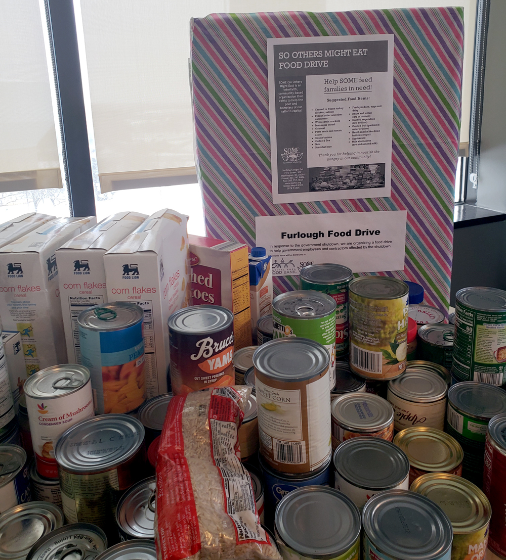 Food Drive for furloughed members